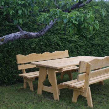 holz garniture f r drau en gartenm bel timber moves. Black Bedroom Furniture Sets. Home Design Ideas